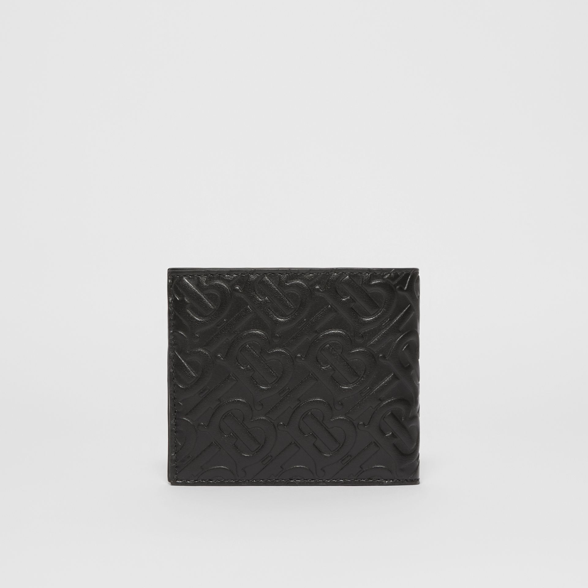 Monogram Leather International Bifold Wallet in Black - Men | Burberry United Kingdom - gallery image 4