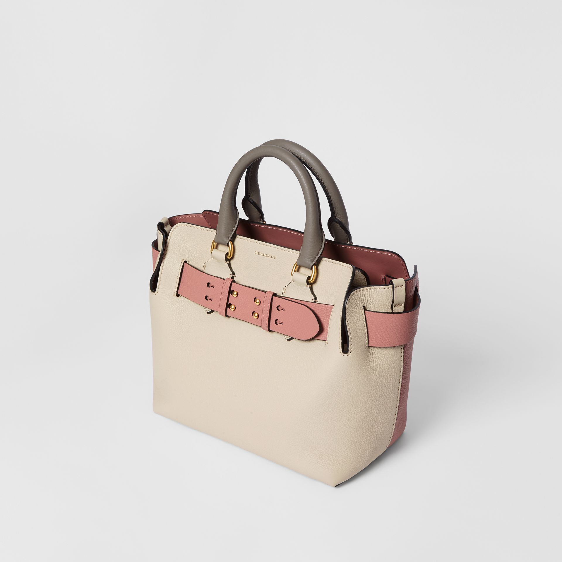 The Small Tri-tone Leather Belt Bag in Limestone/dusty Rose - Women | Burberry Australia - gallery image 4