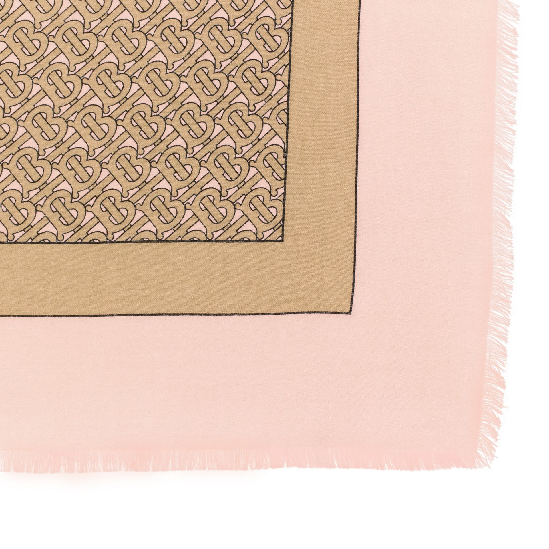 Monogram Print Lightweight Cashmere Scarf in Pink | Burberry United Kingdom - gallery image 1