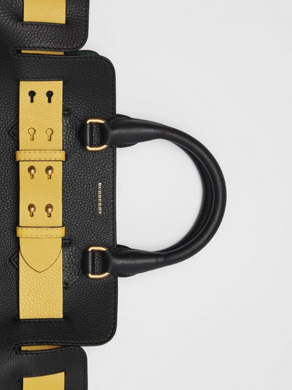 The Small Leather Belt Bag in Black/yellow - Women | Burberry Hong Kong S.A.R - cell image 1
