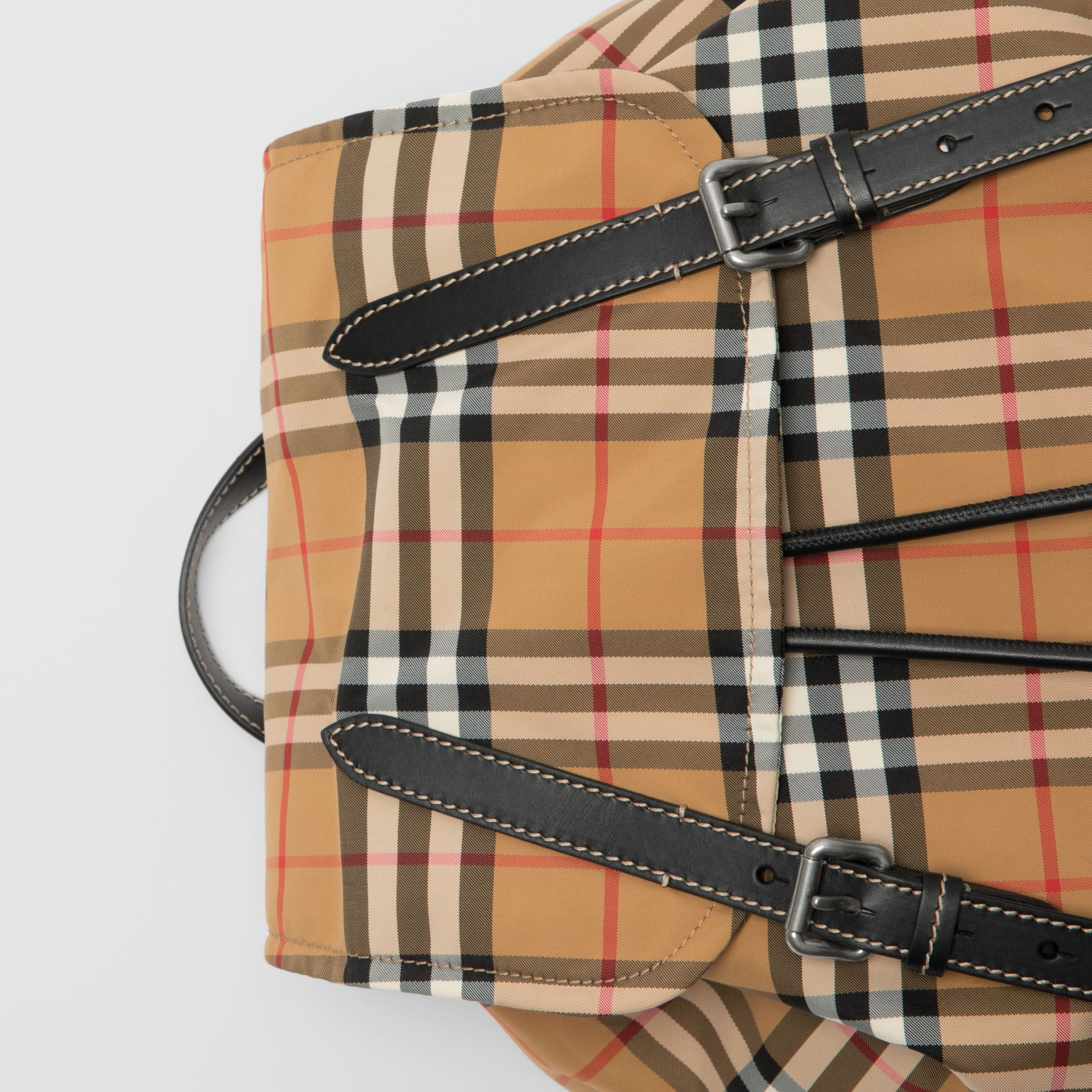 The Large Rucksack in Vintage Check Nylon in Antique Yellow - Men | Burberry - gallery image 1