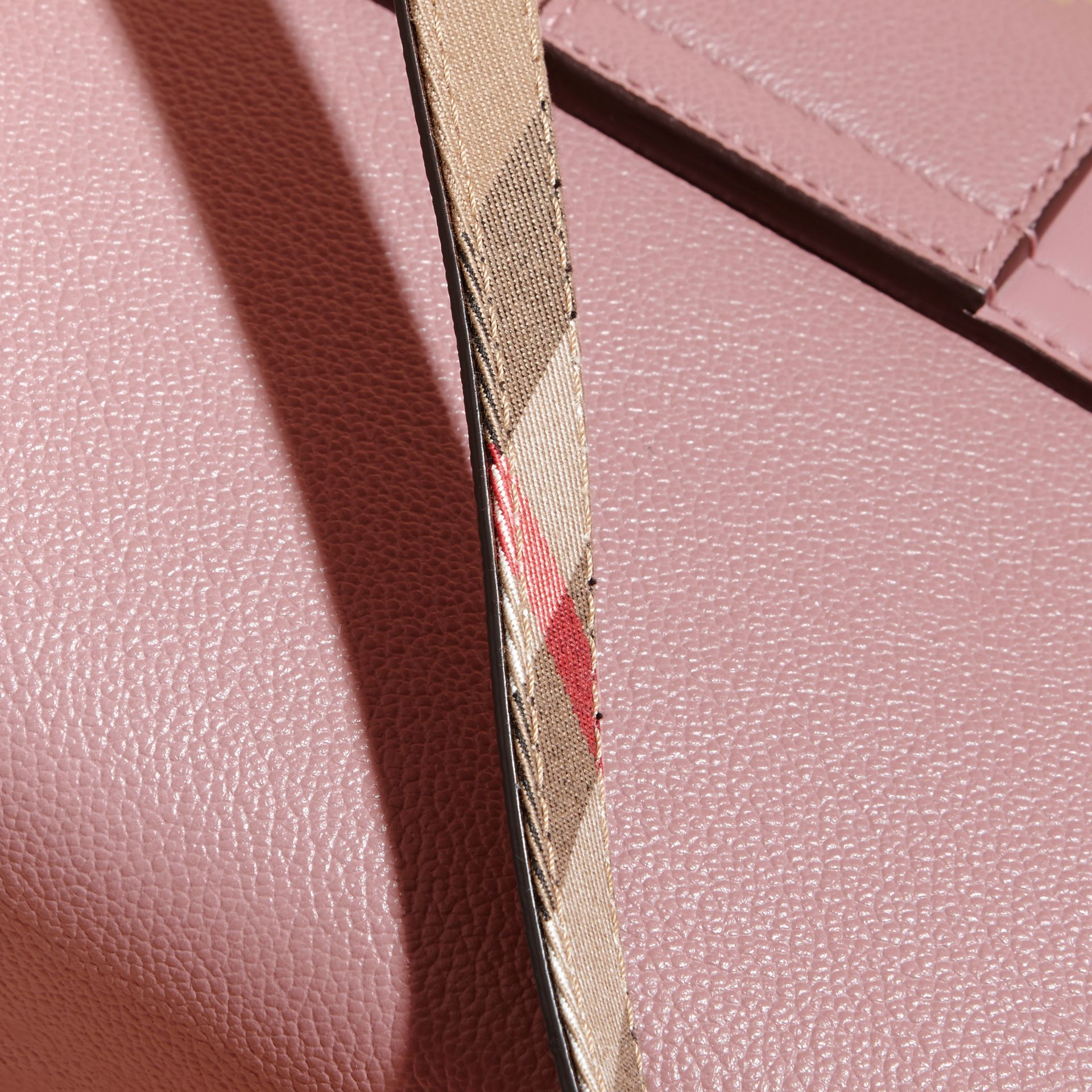 The Buckle Crossbody Bag in Leather in Dusty Pink - gallery image 7