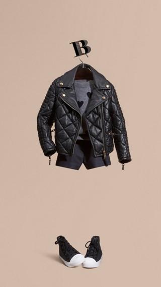 Quilted Lambskin Biker Jacket
