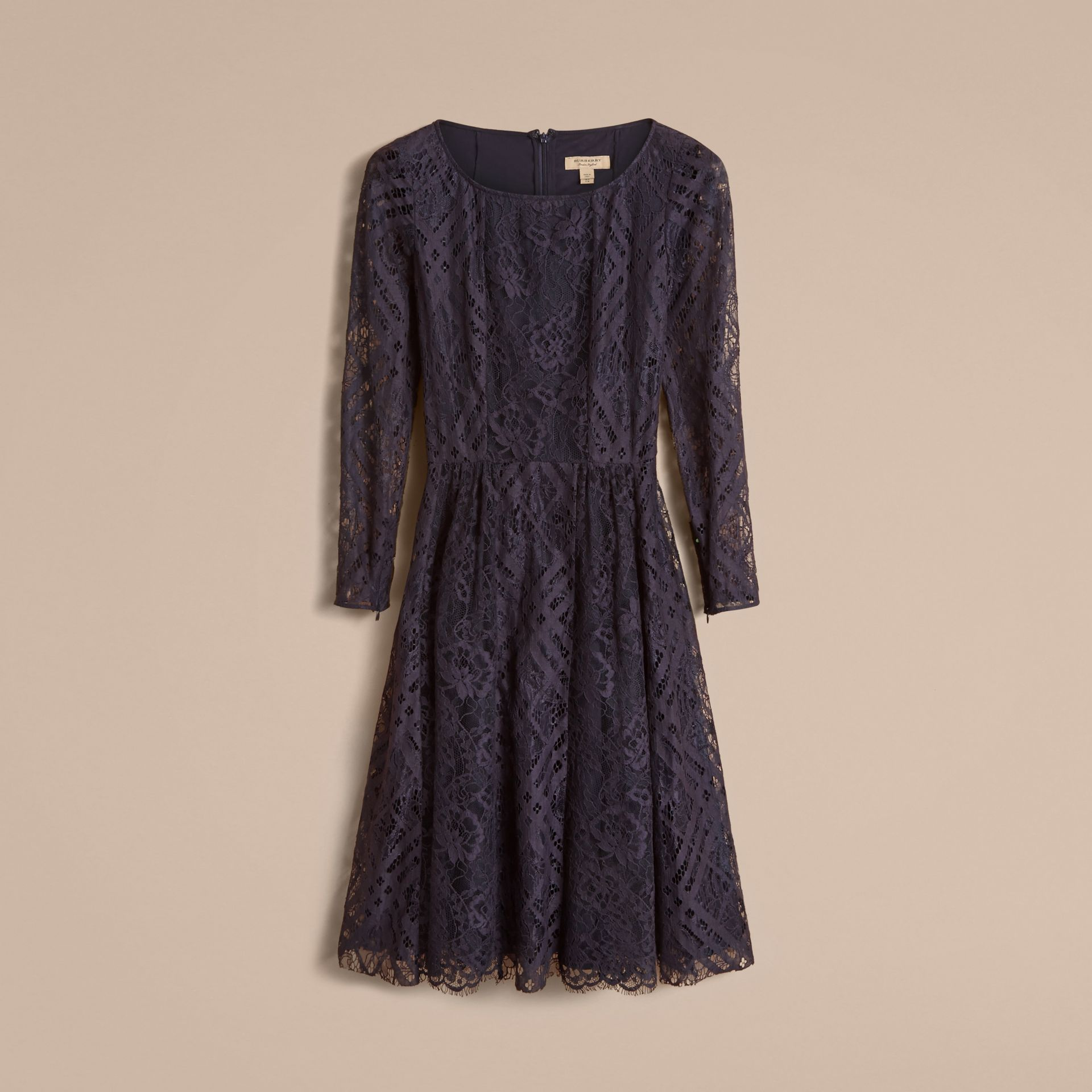 Check Lace Fit and Flare Dress - Women | Burberry - gallery image 4