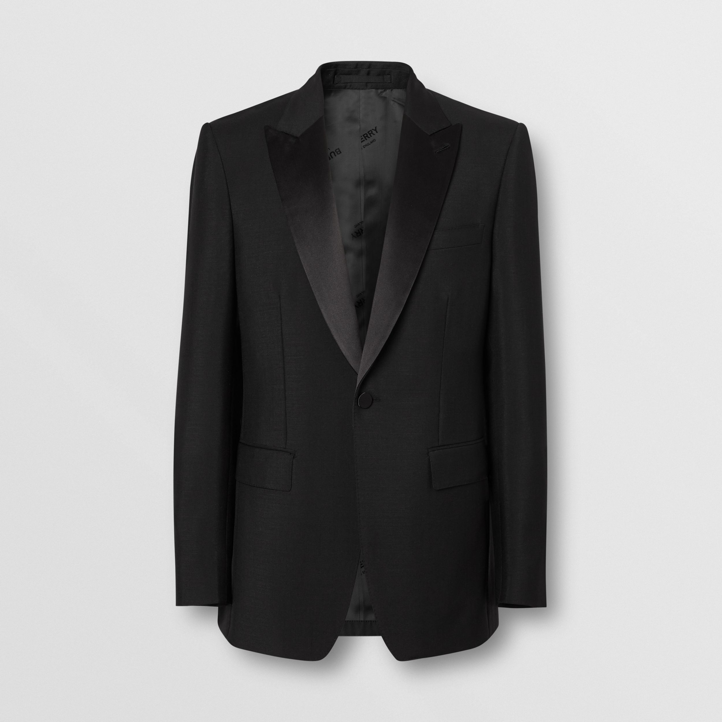 English Fit Mohair Wool Tuxedo in Black - Men | Burberry - 4