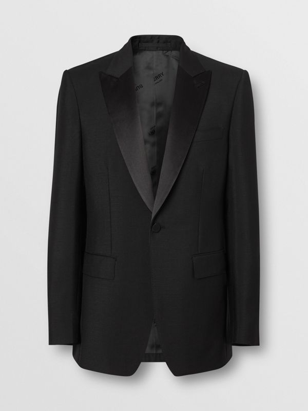 English Fit Mohair Wool Tuxedo in Black - Men | Burberry Canada - cell image 3