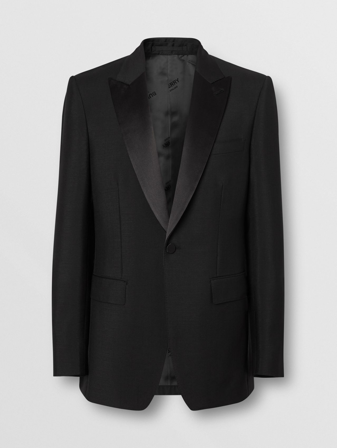 English Fit Mohair Wool Tuxedo (Black)