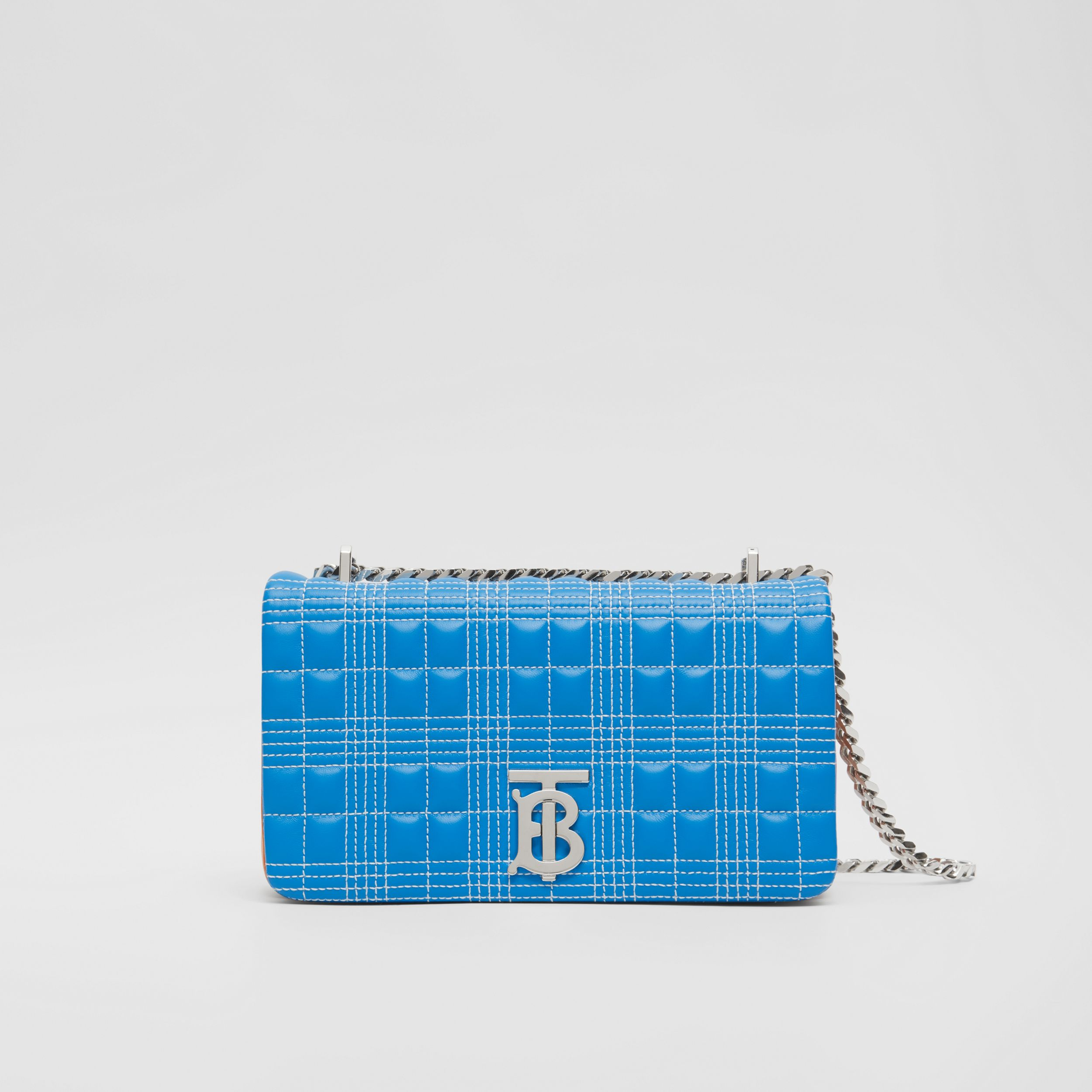 Small Quilted Tri-tone Lambskin Lola Bag in Cyan Blue/orange/pink - Women | Burberry - 1