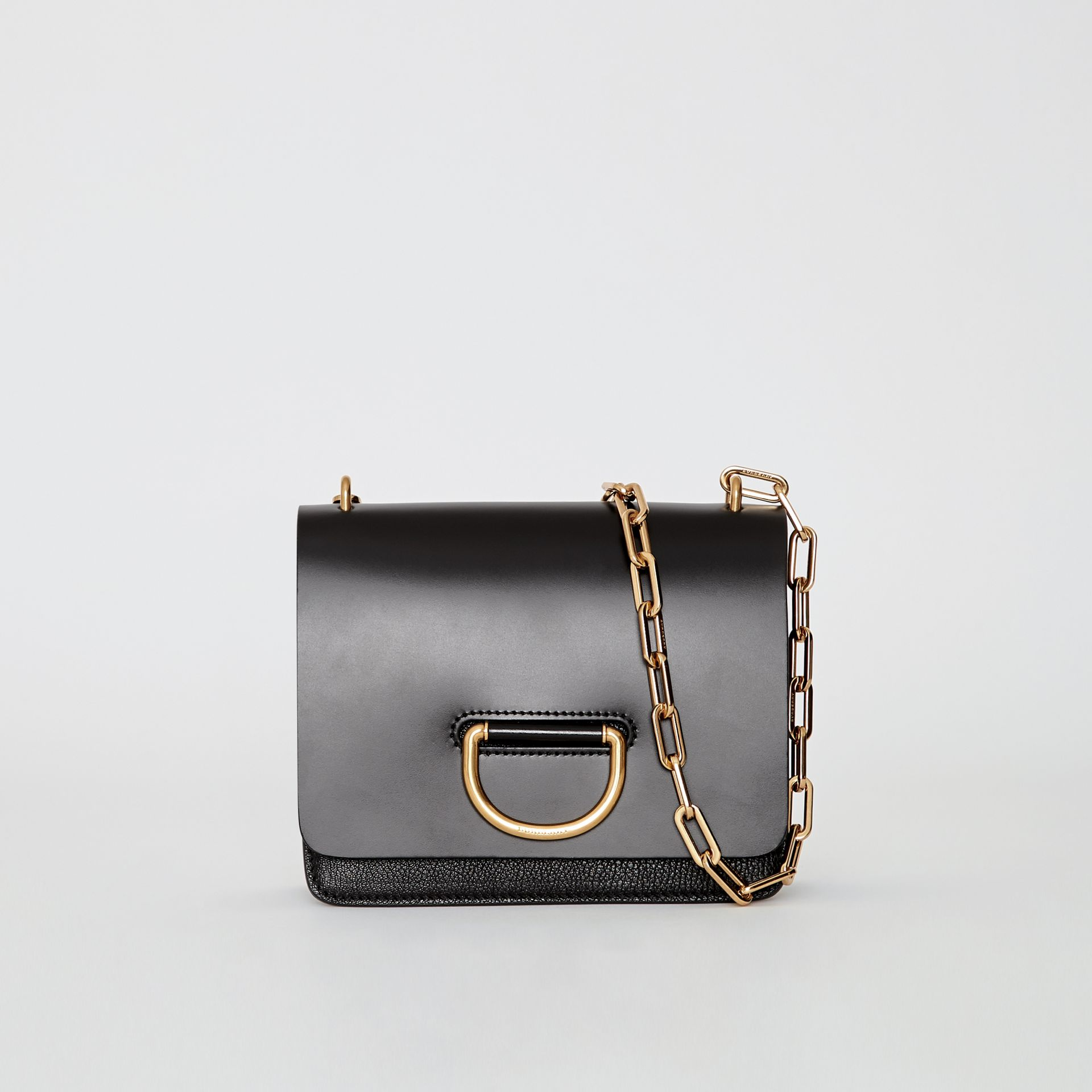 The Small Leather D-ring Bag in Black - Women | Burberry - gallery image 0