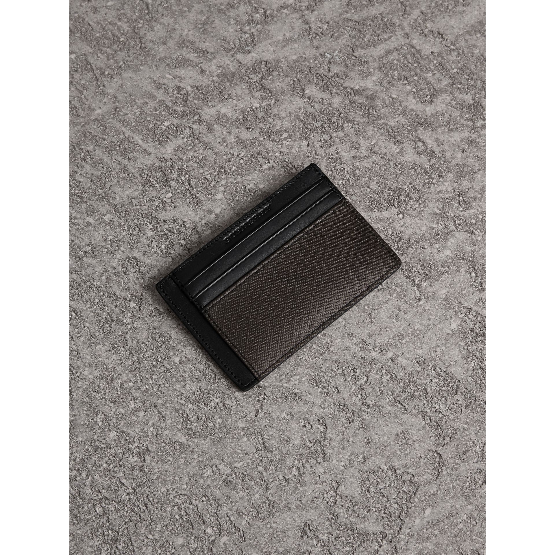 London Check Card Case in Chocolate/black - Men | Burberry - gallery image 0