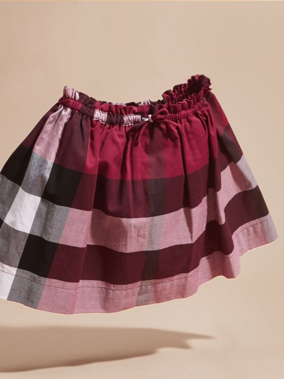 Dark plum pink Check Cotton Skirt - cell image 2