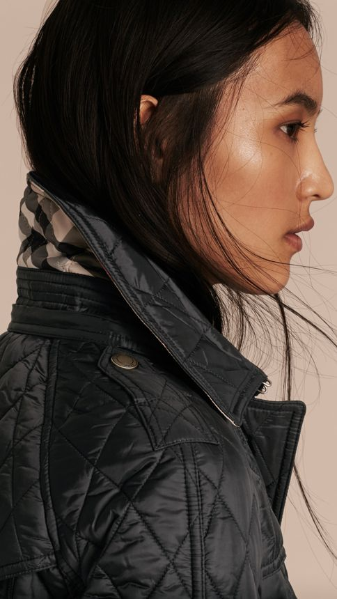 Black Diamond Quilted Coat Black - Image 6