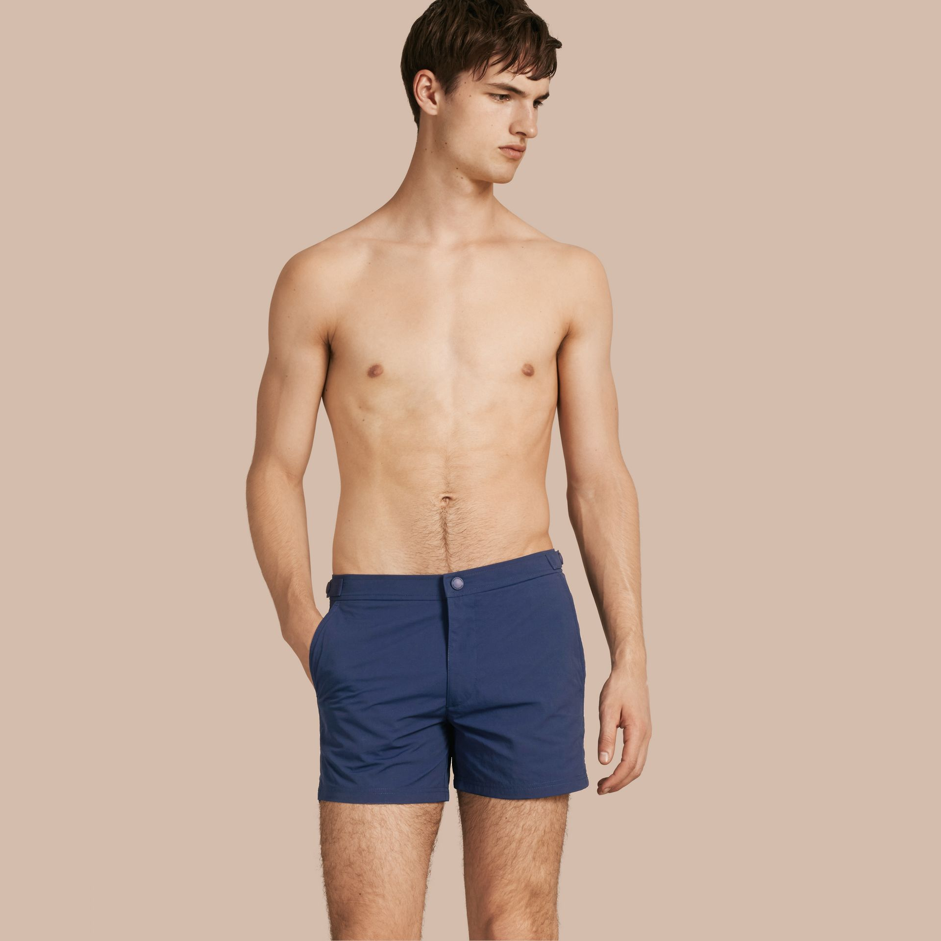 Tailored Swim Shorts Bright Navy - gallery image 1