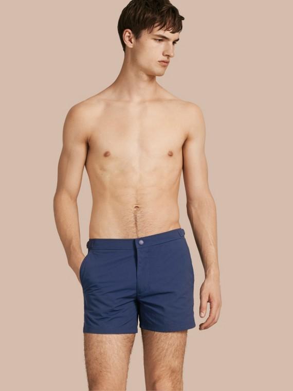 Körperbetonte Schwimmshorts Helles Marineblau