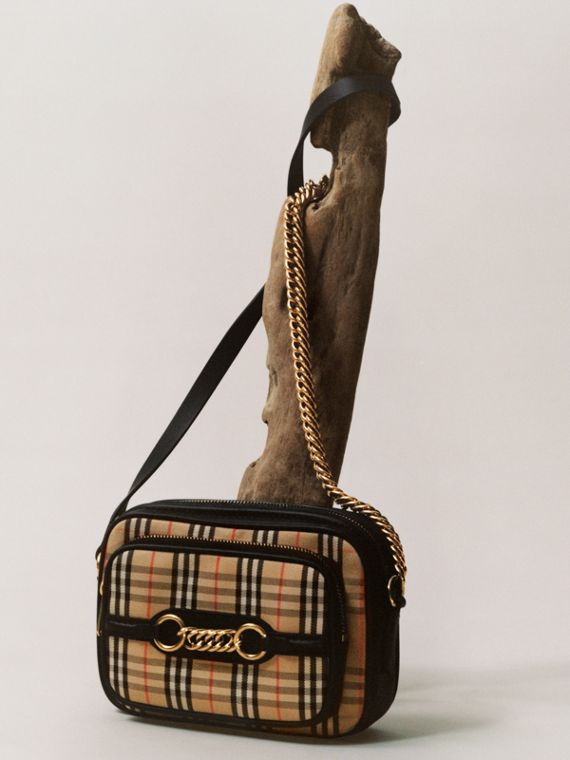 The 1983 Check Link Camera Bag in Black