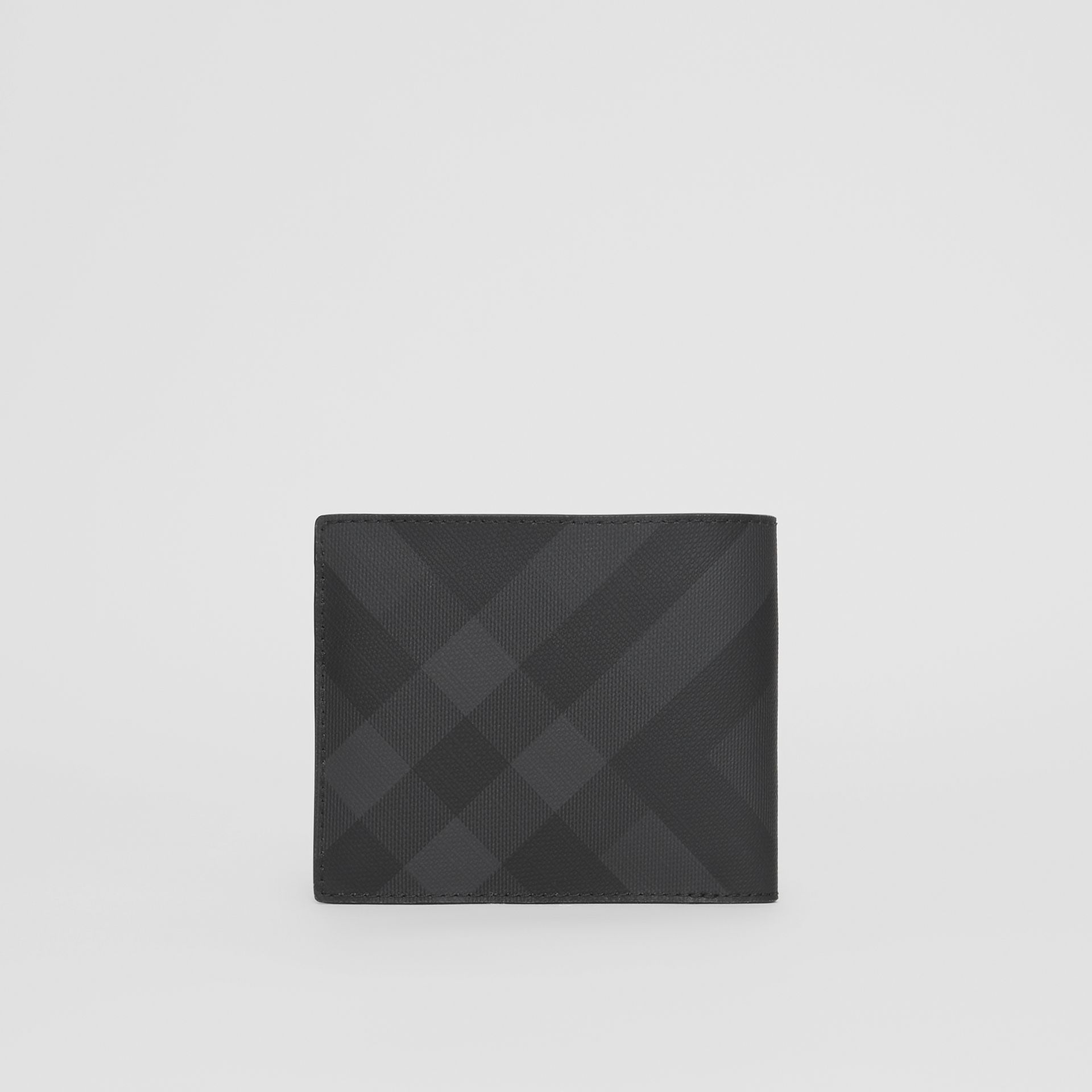 London Check Bifold Wallet with ID Card Case in Dark Charcoal - Men | Burberry - gallery image 4