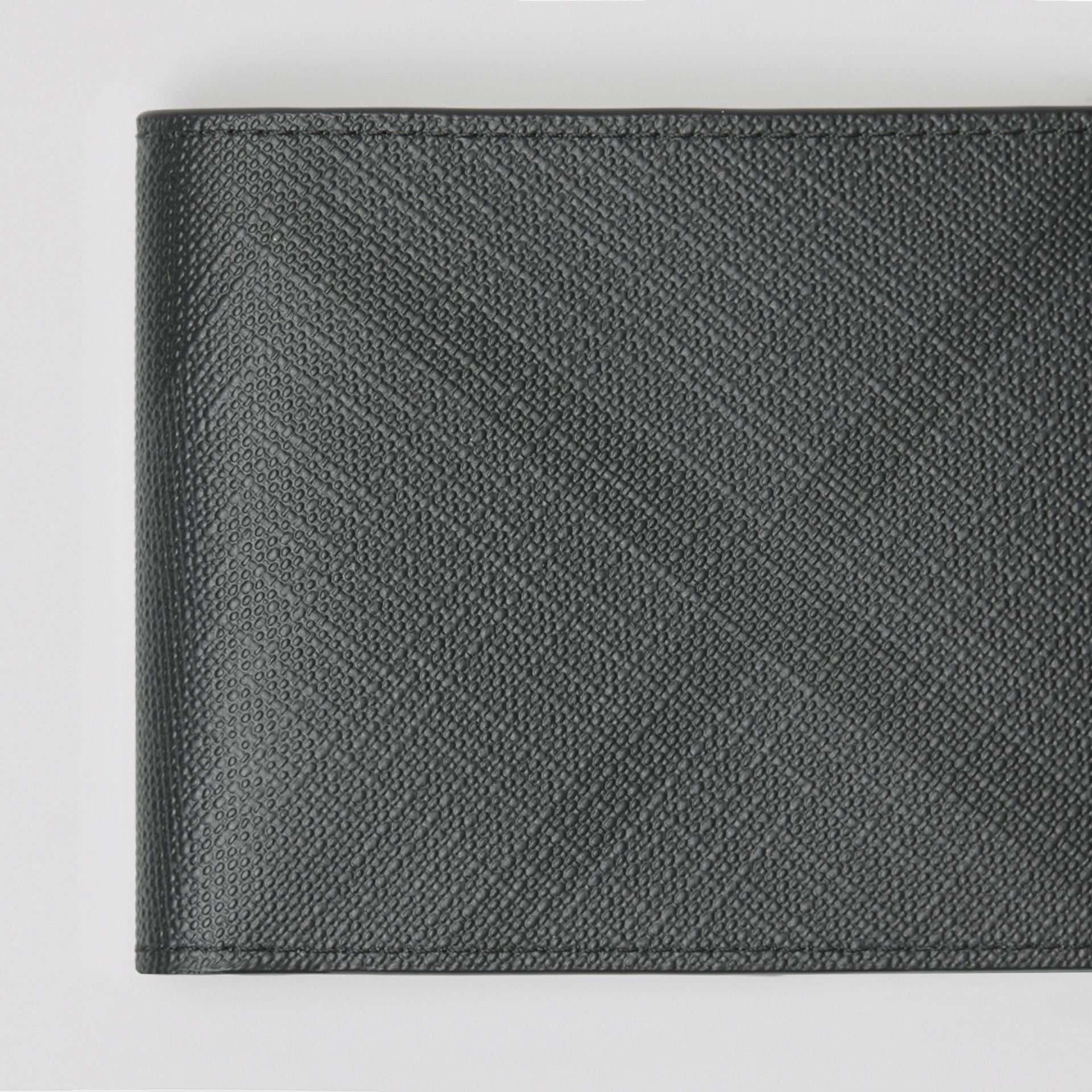 London Check Bifold Wallet in Charcoal/black - Men | Burberry Australia - gallery image 1
