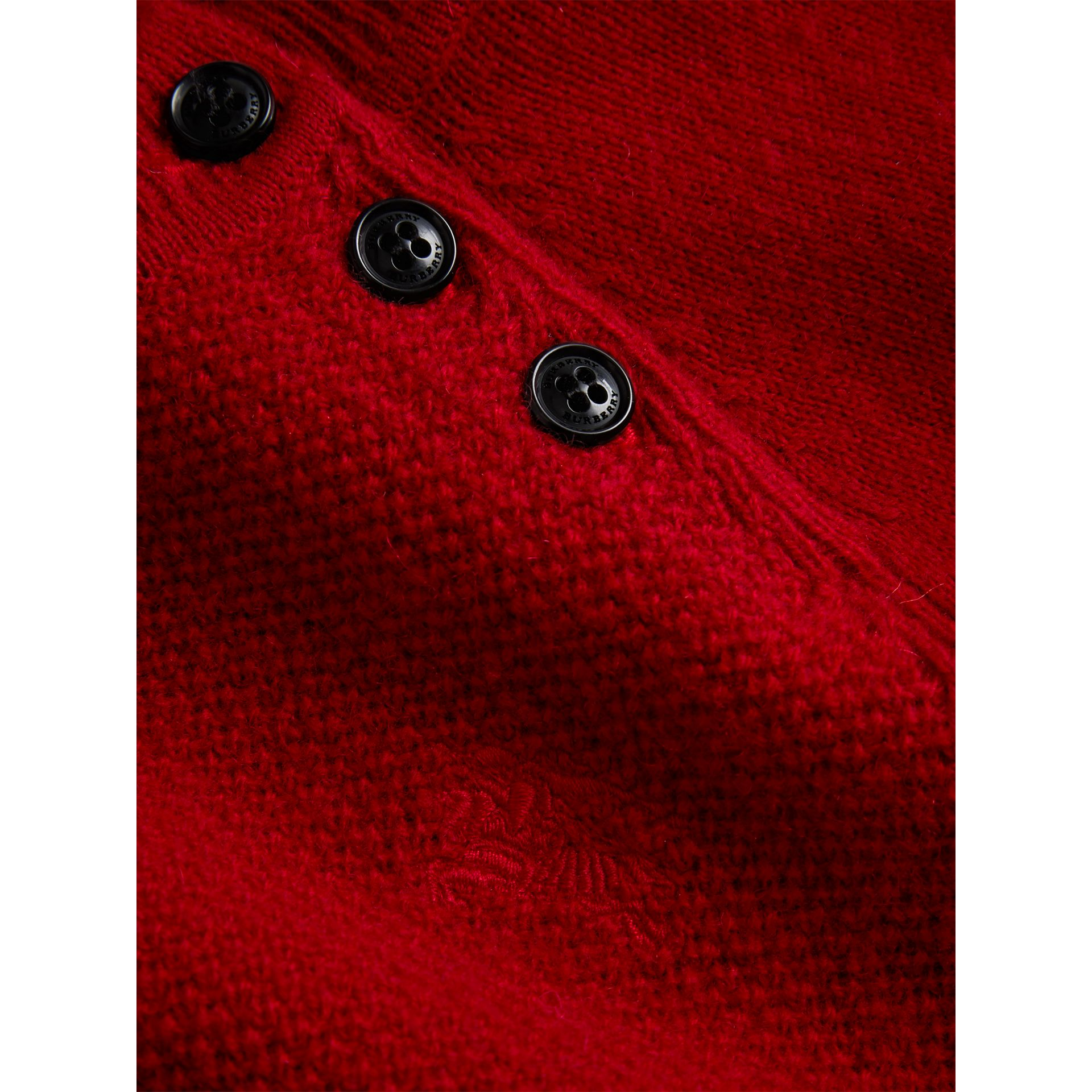 Cashmere Sweater Dress in Parade Red - Girl | Burberry United Kingdom - gallery image 1
