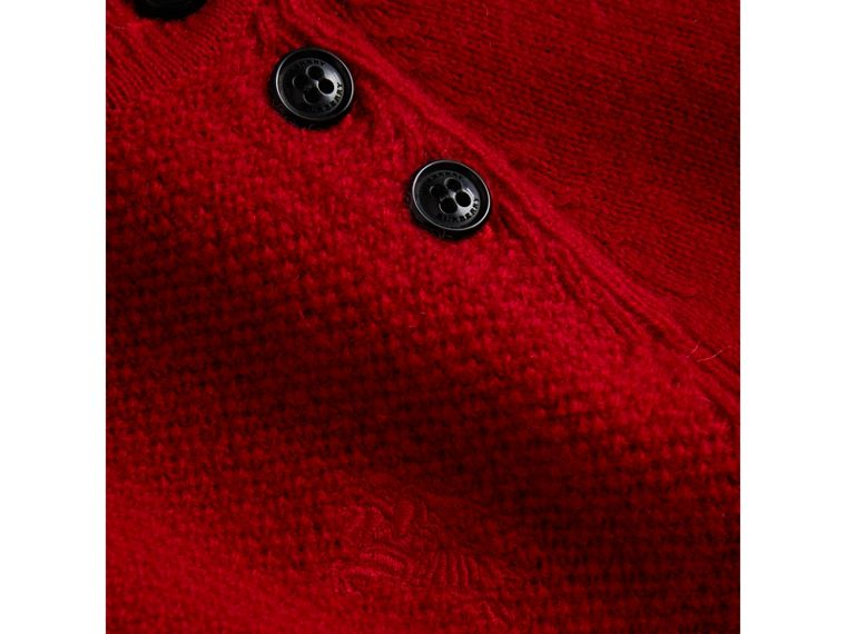 Cashmere Sweater Dress in Parade Red - Girl | Burberry United Kingdom - cell image 1