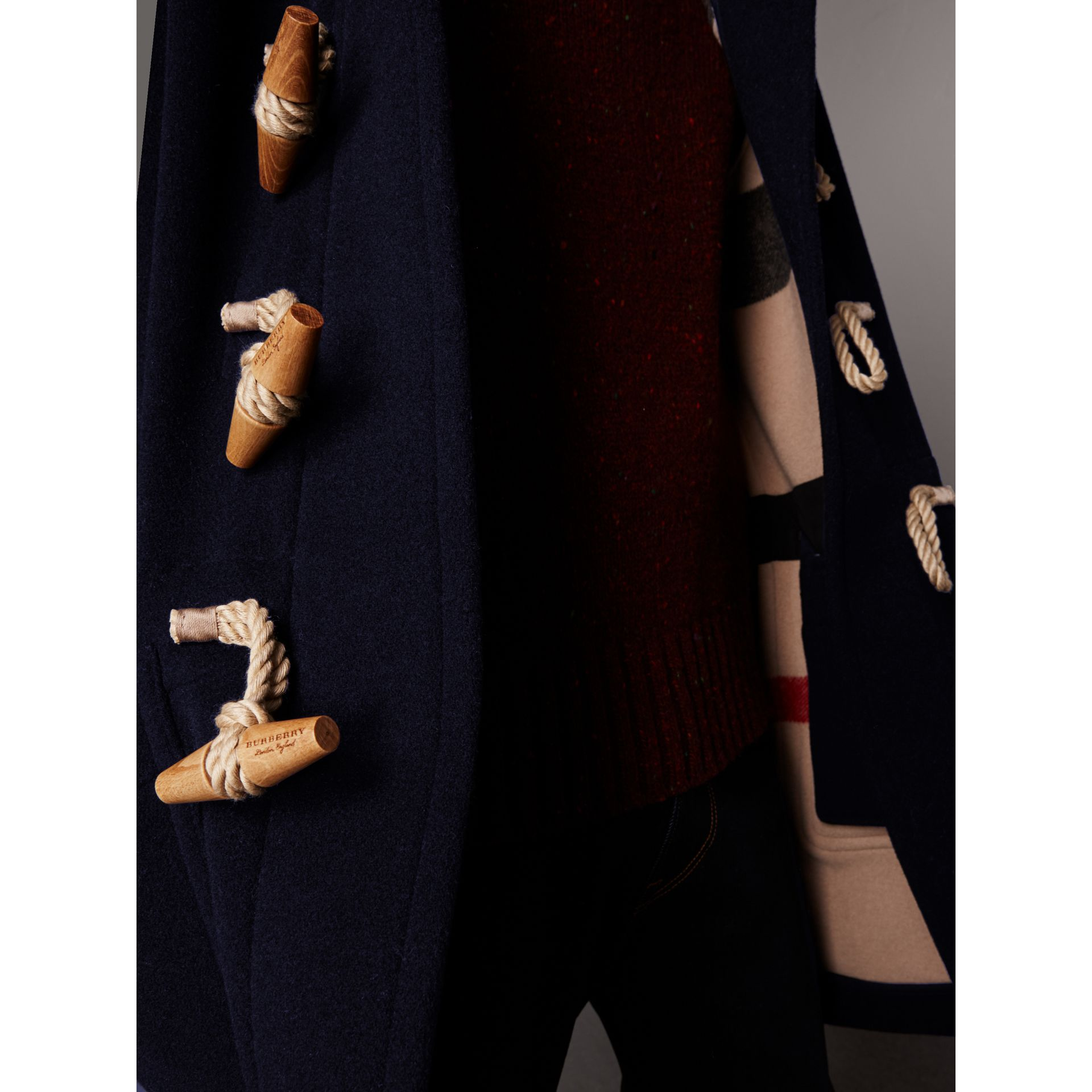 The Greenwich Duffle Coat in Navy - Men | Burberry Singapore - gallery image 2