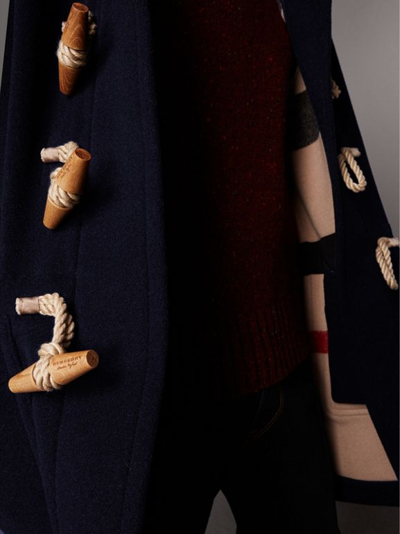 The Greenwich Duffle Coat in Navy - Men | Burberry United States - cell image 1