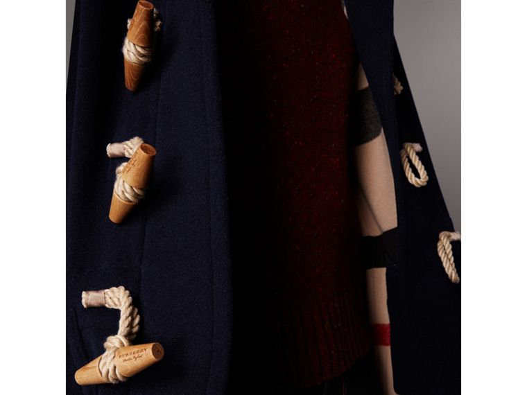 The Greenwich Duffle Coat in Navy - Men | Burberry Singapore - cell image 1