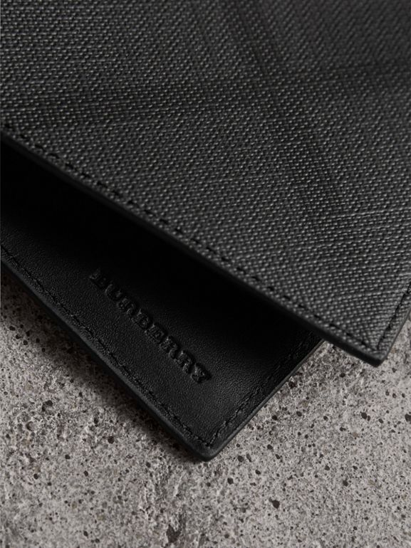 London Check Bifold Wallet in Charcoal/black - Men | Burberry - cell image 1