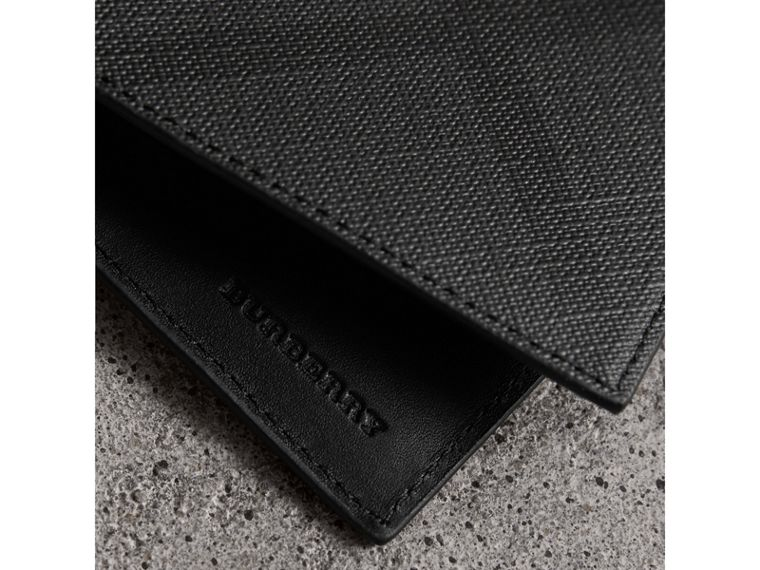 London Check Bifold Wallet in Charcoal/black - Men | Burberry Australia - cell image 1