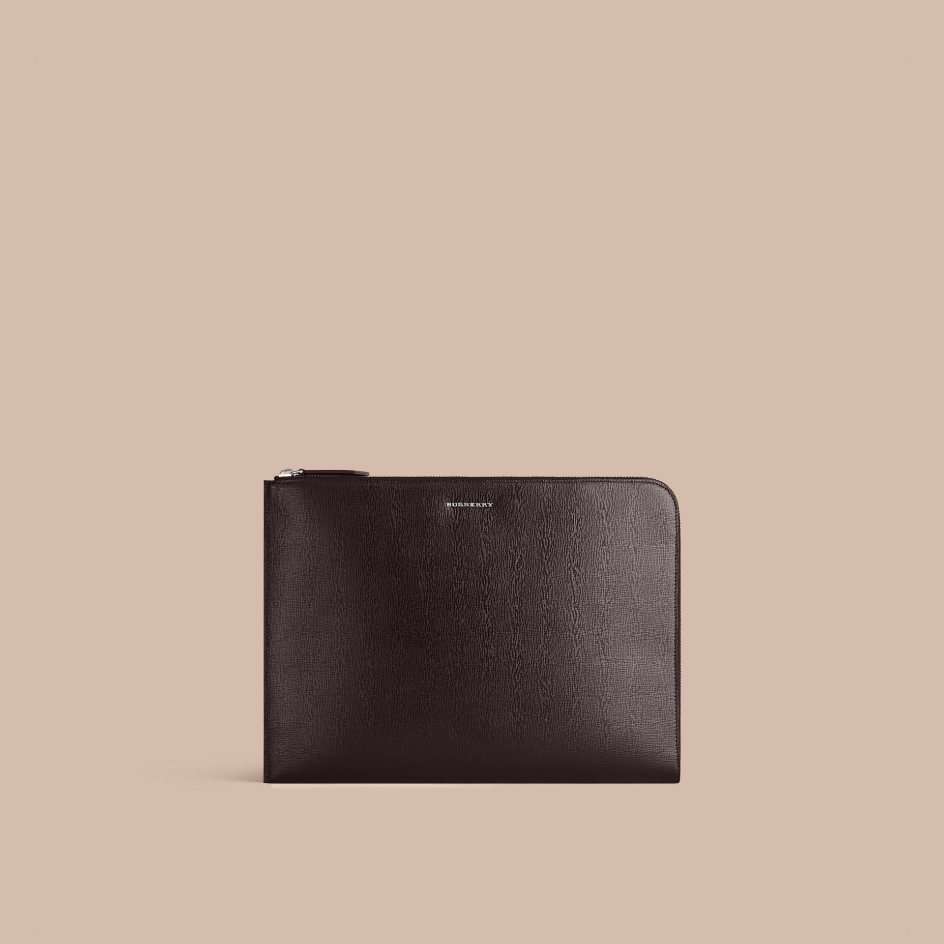 Black London Leather Document Case Black - gallery image 1