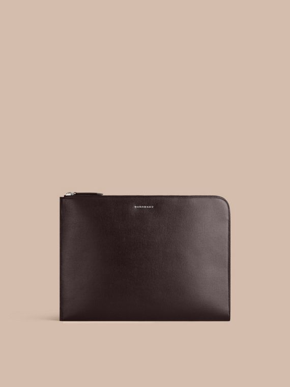 London Leather Document Case Black