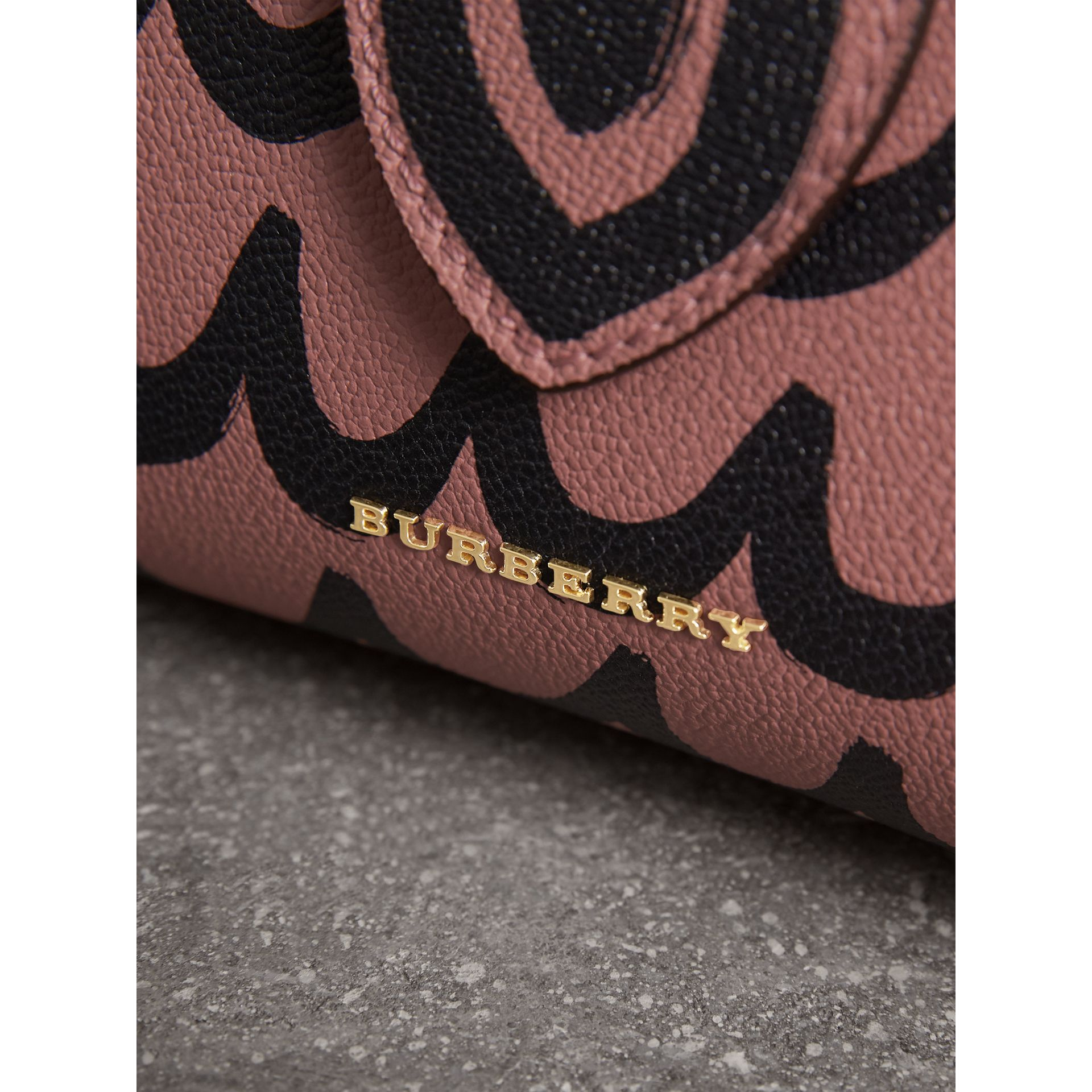 The Small Buckle Tote in Trompe L'oeil Print Leather in Dusty Pink - Women | Burberry - gallery image 2
