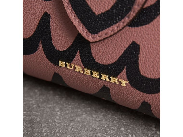 The Small Buckle Tote in Trompe L'oeil Print Leather in Dusty Pink - Women | Burberry Singapore - cell image 1