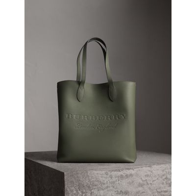 Medium Embossed Leather Tote