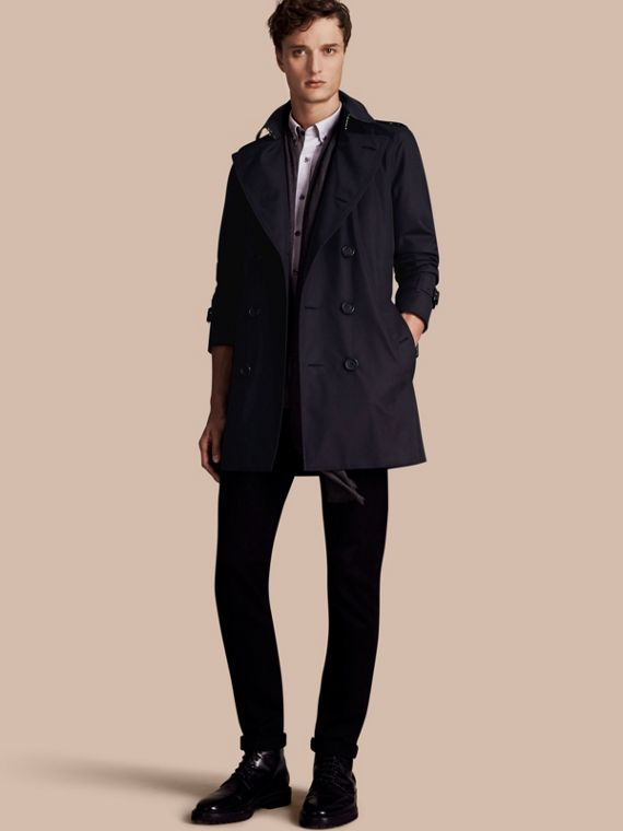 Trench coat Sandringham - Trench coat Heritage de longitud media Azul Marino