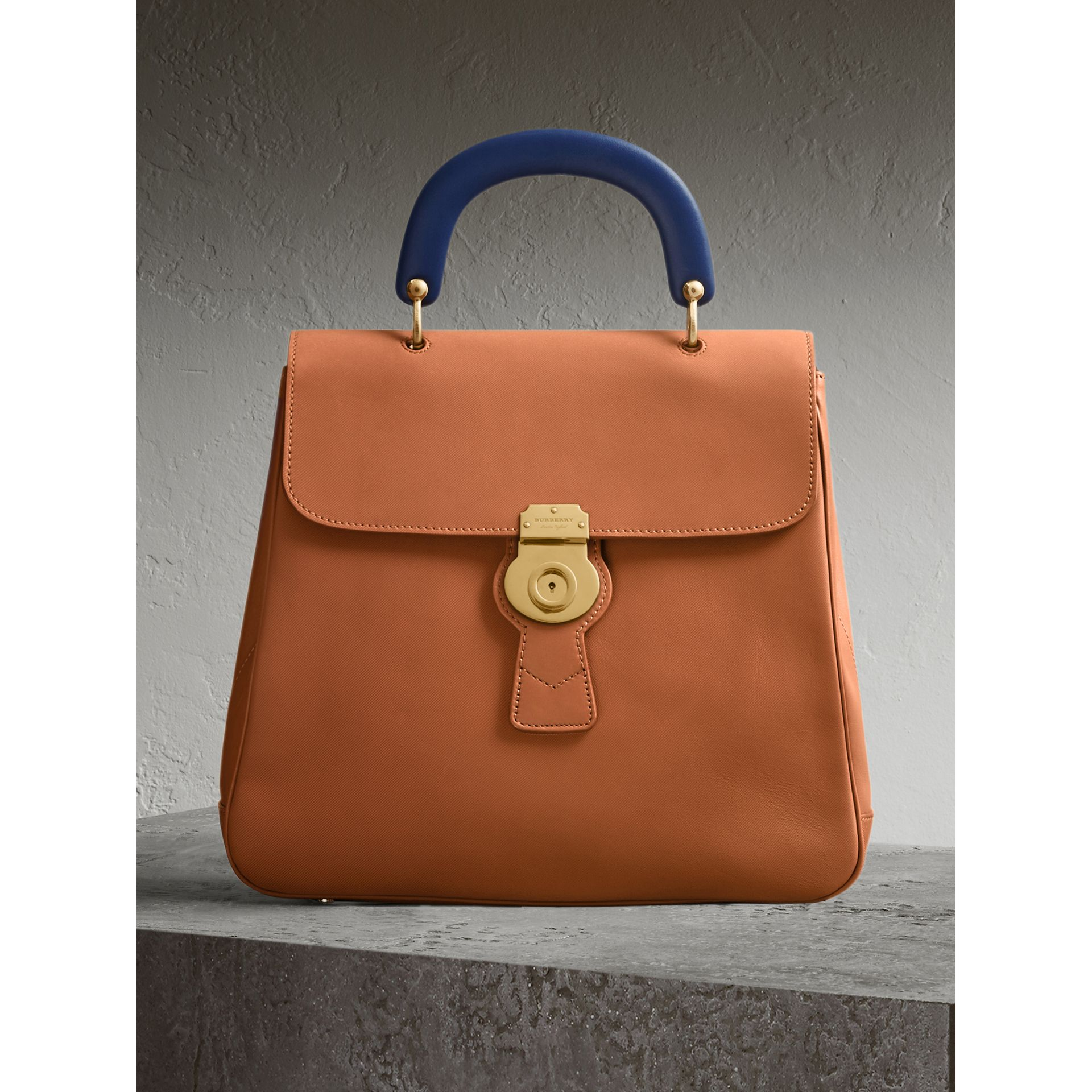 The Large DK88 Top Handle Bag in Bright Toffee - Women | Burberry - gallery image 1