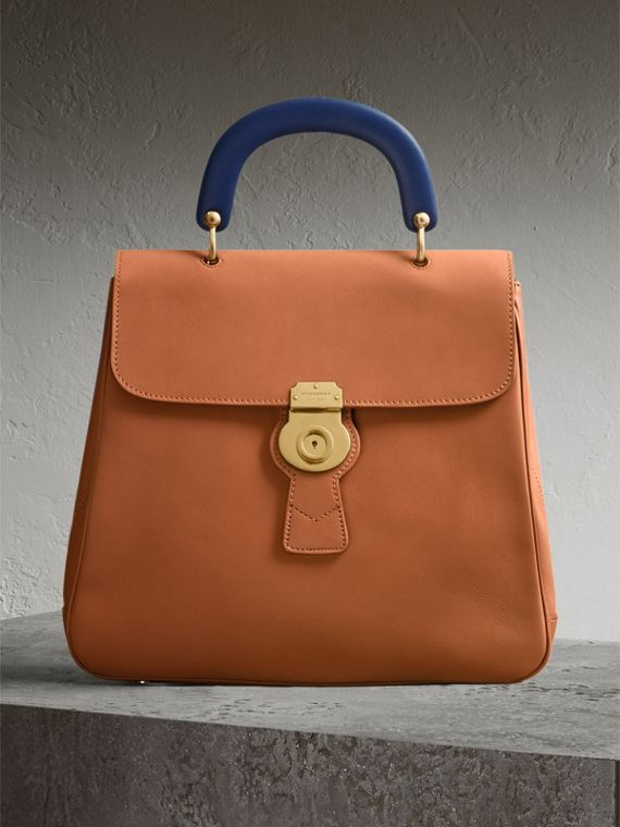 The Large DK88 Top Handle Bag in Bright Toffee