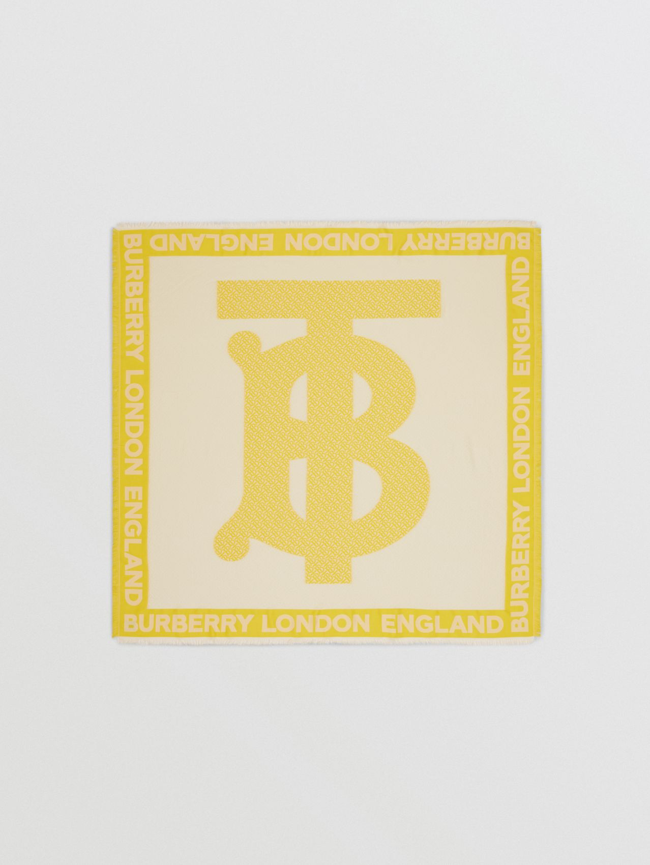 Monogram Fil Coupé Silk Blend Large Square Scarf in Yellow