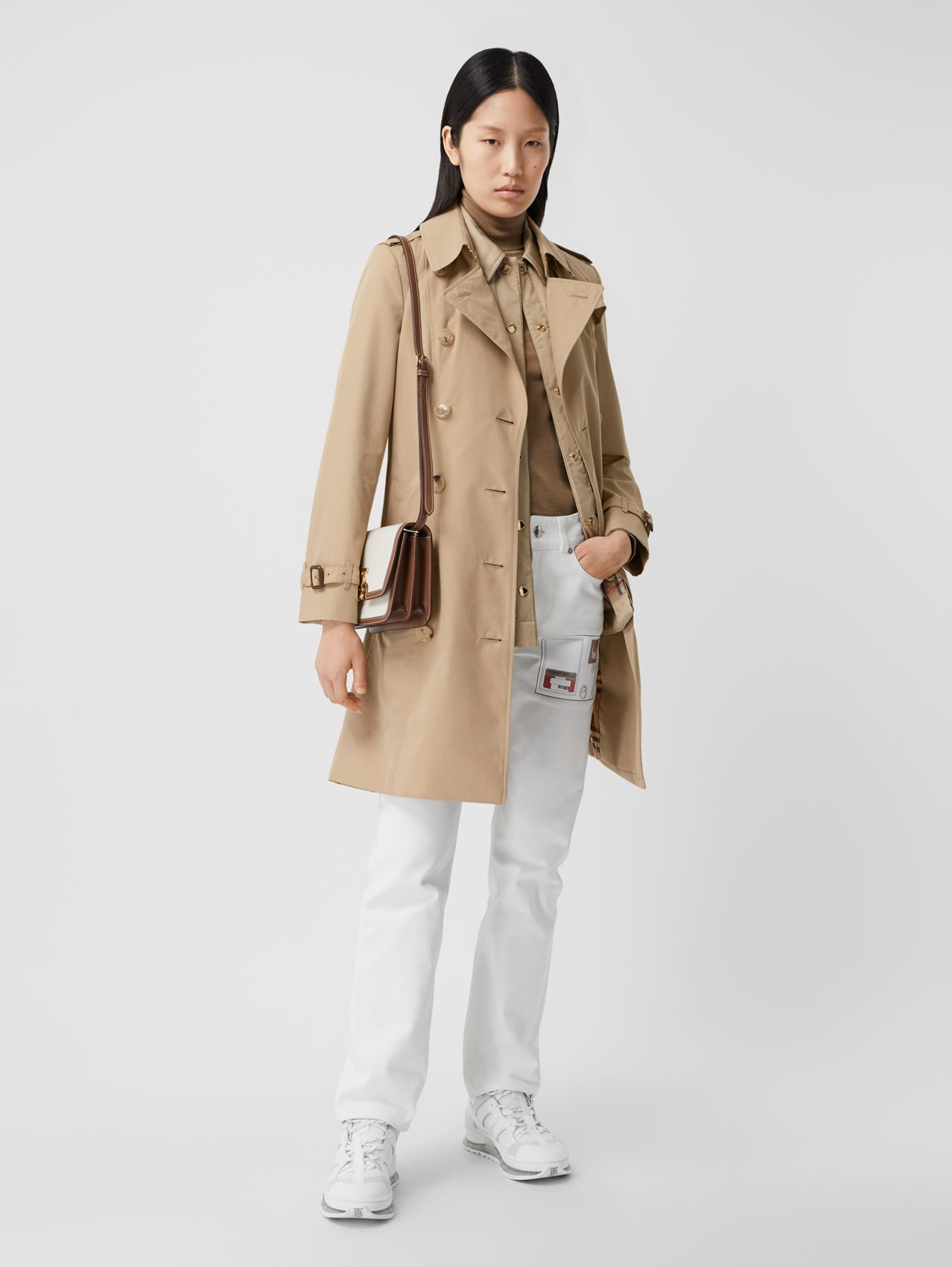 The Mid-length Chelsea Heritage Trench Coat (Honey)