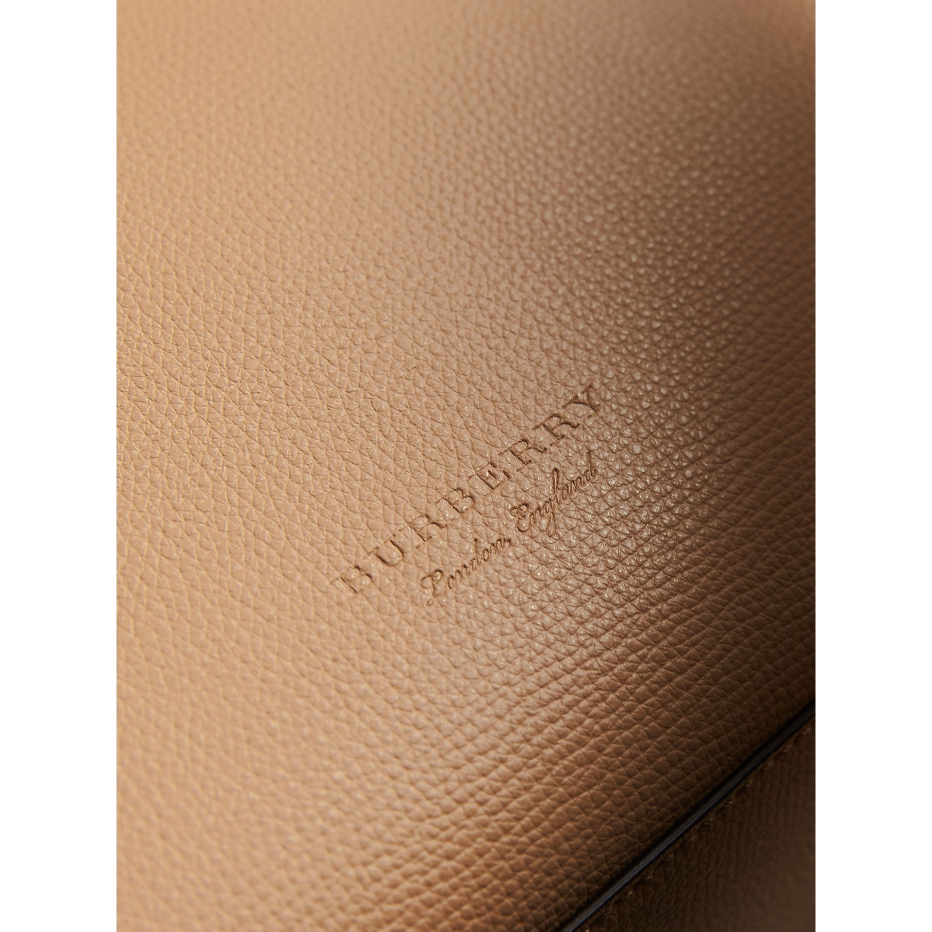 Medium Coated Leather Tote in Mid Camel - Women | Burberry - gallery image 5