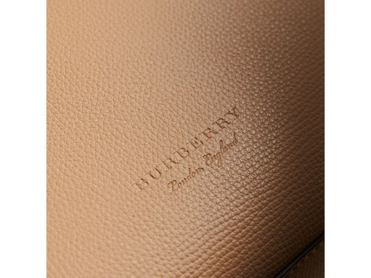 Medium Coated Leather Tote in Mid Camel - Women | Burberry - cell image 4