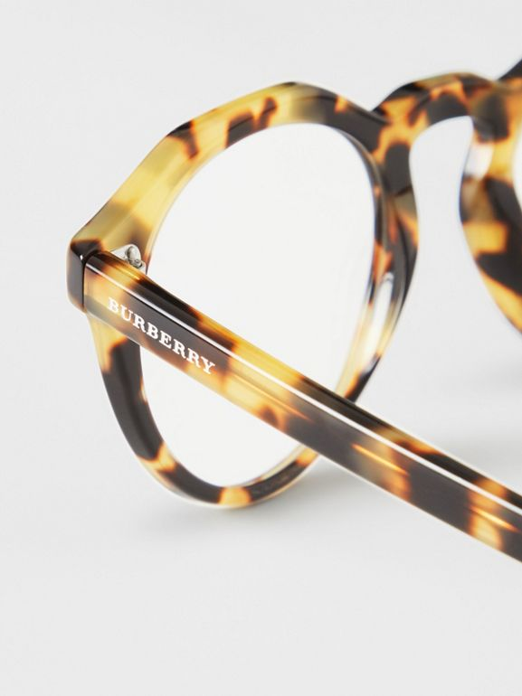 Keyhole Round Optical Frames in Tortoise Shell - Men | Burberry Australia - cell image 1
