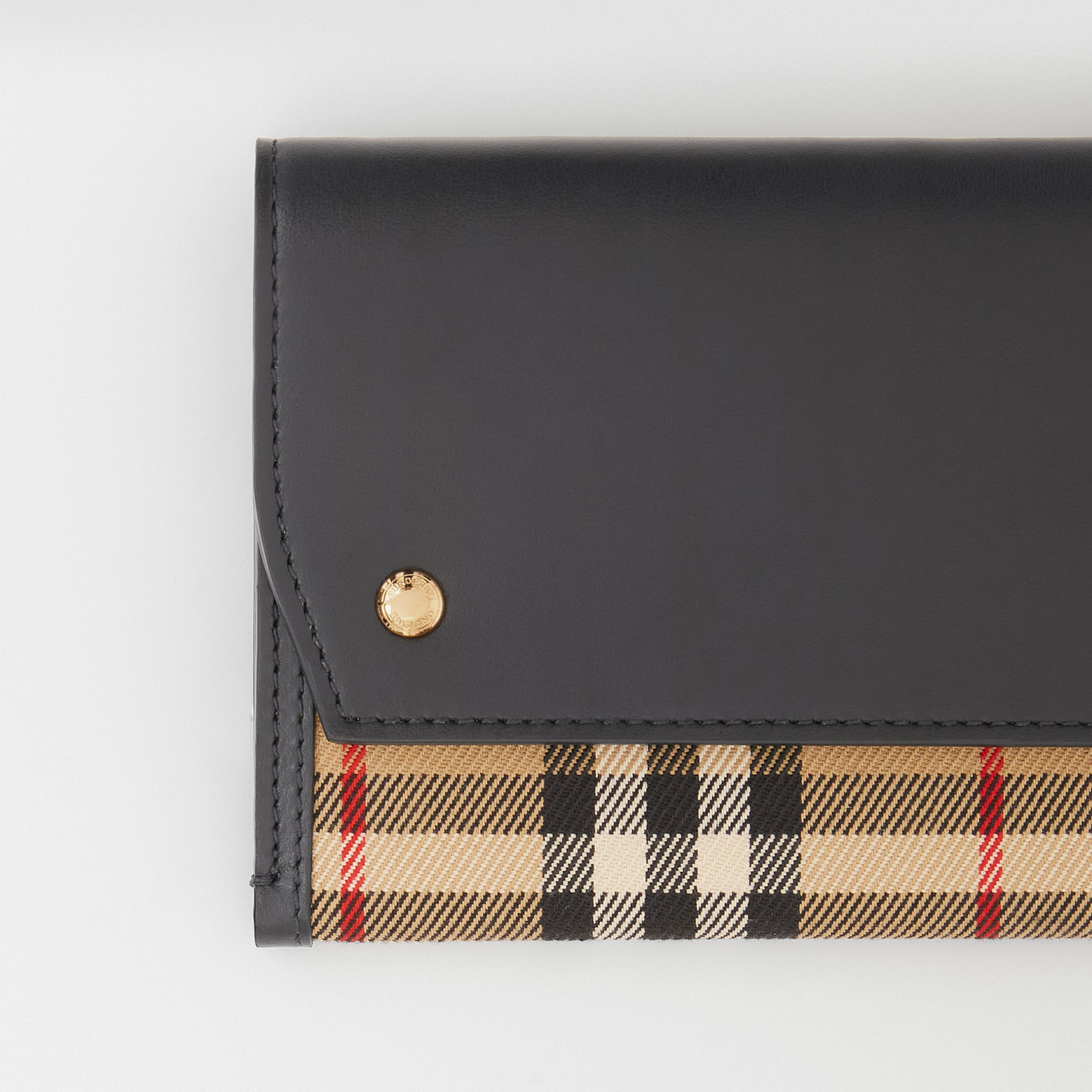 Vintage Check and Leather Phone Case with Strap in Archive Beige - Women | Burberry United Kingdom - 2