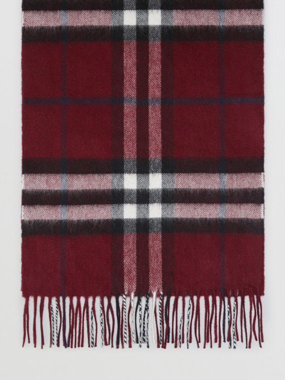 Gosha x Burberry Check Cashmere Double Scarf in Claret