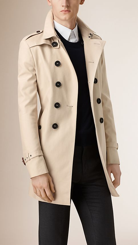 Stone Double-breasted Cotton Trench Coat - Image 1