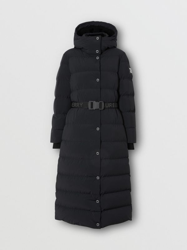 Detachable Hood Belted Puffer Coat in Black - Women | Burberry United Kingdom - cell image 3