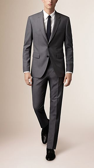 Classic Fit Wool Part-canvas Suit