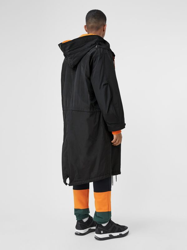 Nylon Silk Parka with Fleece-lined Detachable Warmer in Black - Men | Burberry Australia - cell image 2