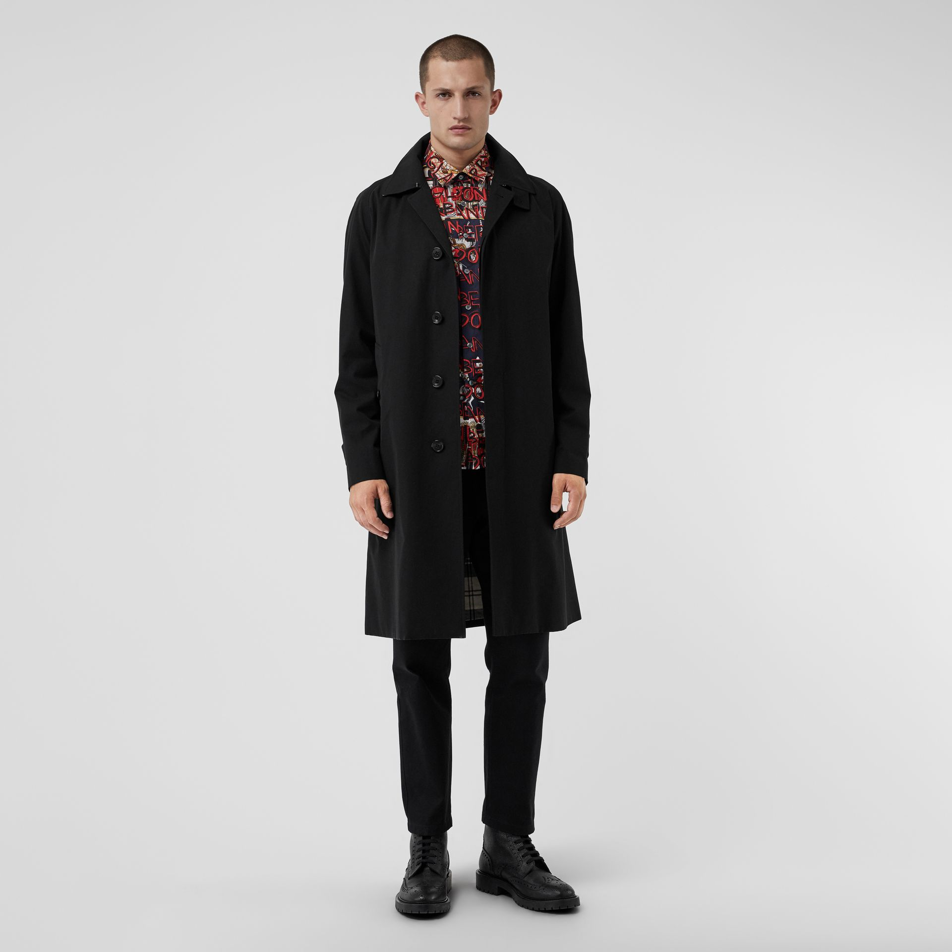 Tropical Gabardine Car Coat in Black - Men | Burberry - gallery image 0
