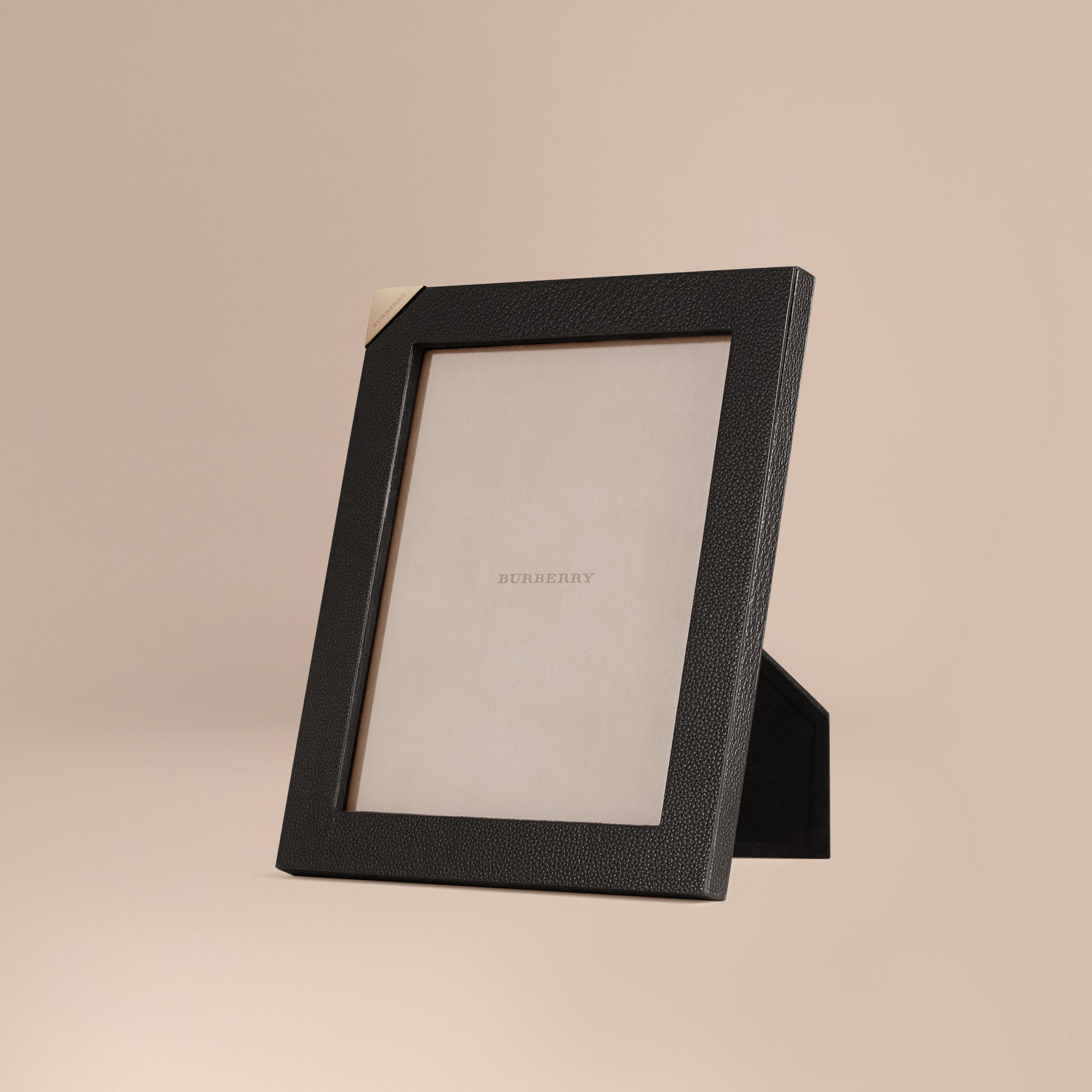 Black Large Grainy Leather Picture Frame - gallery image 1