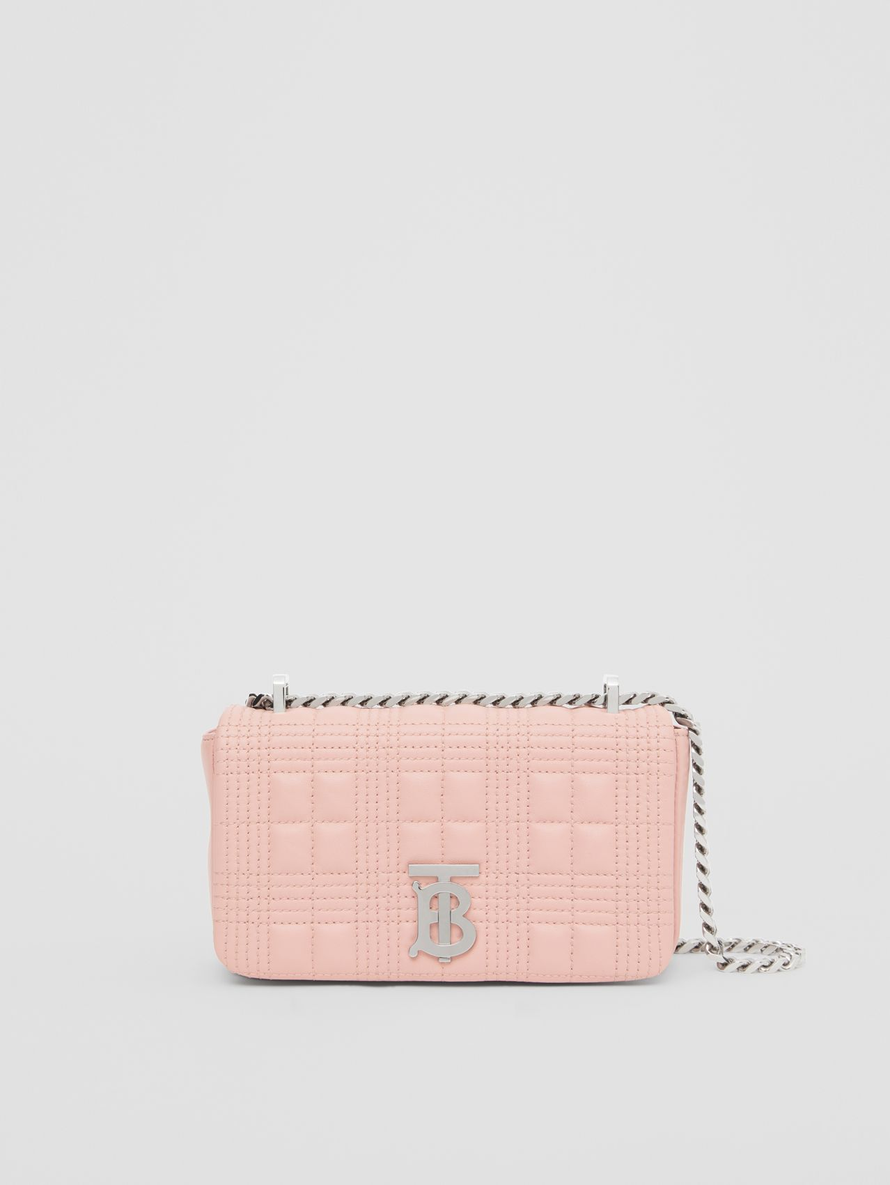 Mini Quilted Lambskin Lola Bag in Blush Pink